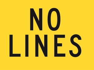 Repeater Sign - No Lines