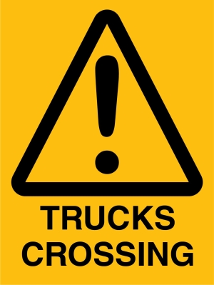 Hazard -Trucks Crossing - 450 x 600
