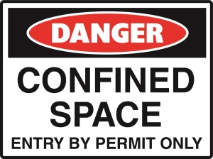 Danger - Confined Space - Entry by Permit Only