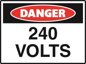 Danger - 240 Volts - 600x450