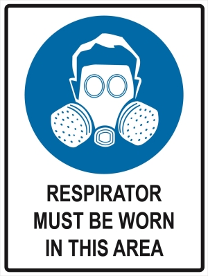 Respirator Must Be Worn in this Area