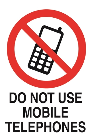 Prohibition - Do not use mobile phones in this area