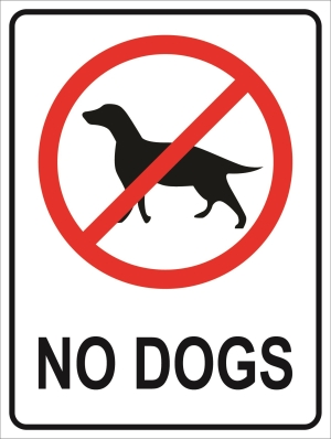Prohibition - No Dogs - 450x600