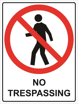 Prohibition - No Tresspassing - 450x600