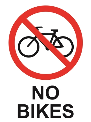 Prohibition - No Bikes - 450x600