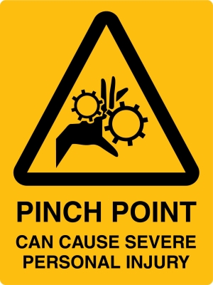 Caution - Pinch Point - 450x600