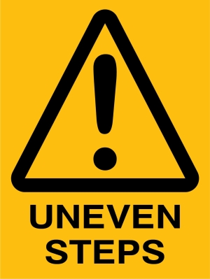 Caution - Uneven Step