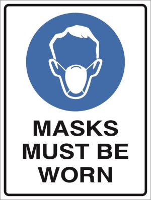 Manadatory - Dust Mask Must Be Worn - 450x60