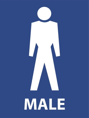 Symbolic Male Toilets - 600 x 450 - Metal