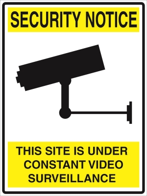 Security Notice - This property is under 24hr surveillance - 600x450