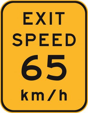 Exit Speed (55)kmh 1400x1800 Yellow