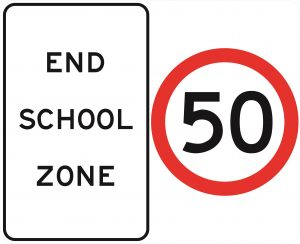 End School Zone - 50 km/h Speed - 1200 x 975