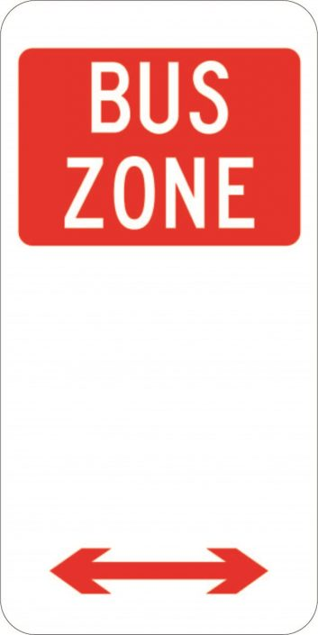 Bus Zone Parking Plate (225x450)