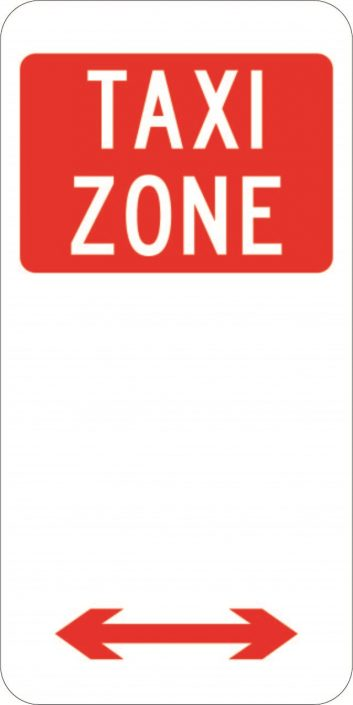 Taxi Zone Parking Plate (225x450)