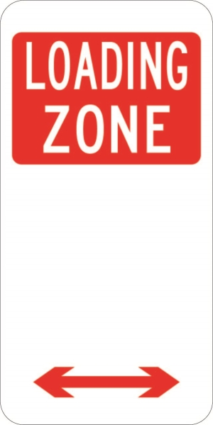 Loading Zone Parking Plate (225x450)