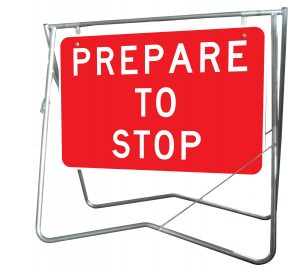 Prepare to Stop - Mounted on Swing Stand
