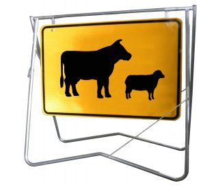 Stock Crossing (Symbolic) - 900 x 600 - Mounted on Swing Stand