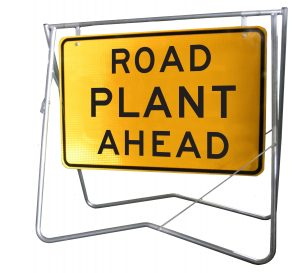 Road Plant Ahead - 900x600 - Mounted on Swing Stand