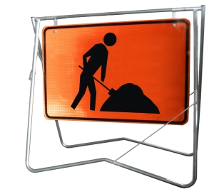 Symbolic Worker - 900 x 600 - Mounted on Swing Stand