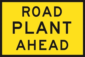 Road Plant Ahead (Cl1) 900 x 600 BEP