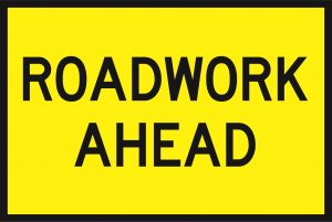 Roadwork Ahead (Cl1) 900 x 600 BEP