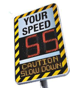 Advanced Speed Warning Signage